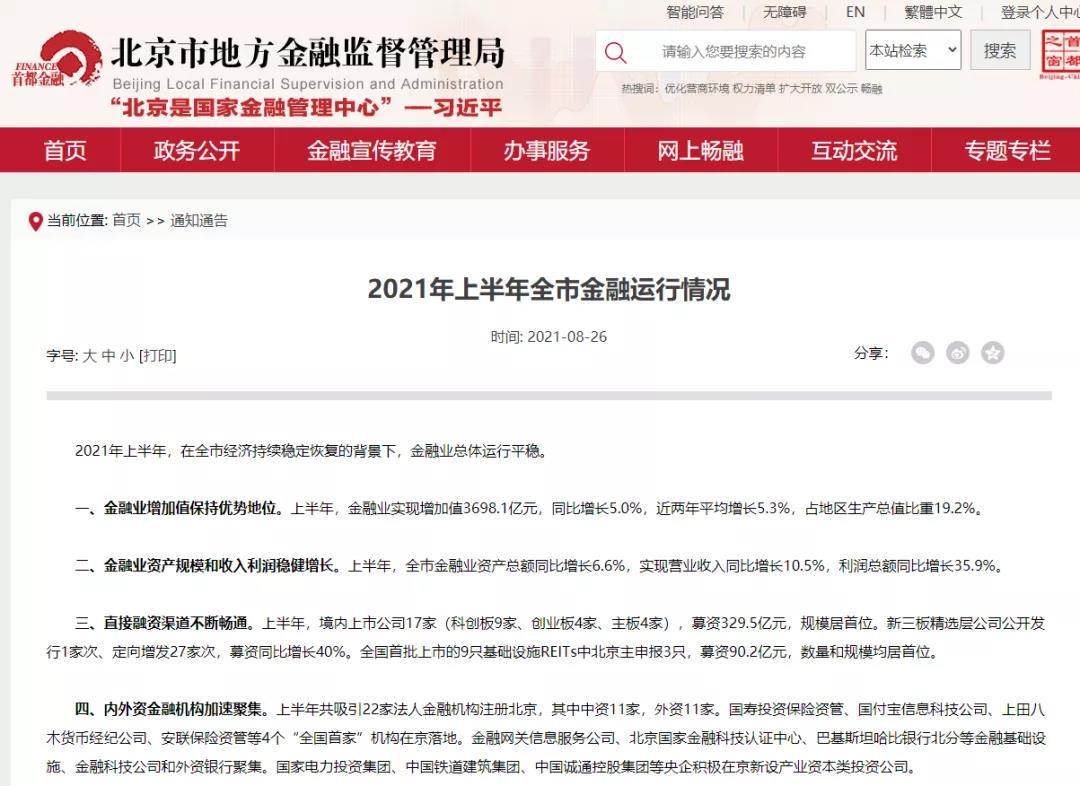 北京市地方金融监督管理局公布20